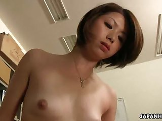 Asian office lady Tsubaki getting sex by..