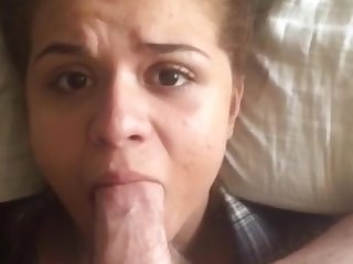 Teen getting facefucked