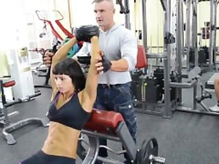 Fit russian girl workout