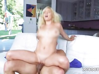 Big ass and natural huge tits of blonde..