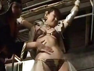 belly punch superheroine