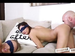 Blindfolded Teen Daughter Swap Fucking