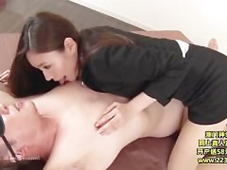 Hot Asian Secretary Takes Advantage 3