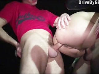 Kitty Jane PUBLIC street gangbang with..
